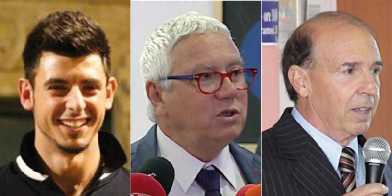 Daniele Greco, Francesco Mandoi ed Elio Alba
