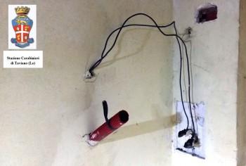 furto energia elettrica taviano con logo