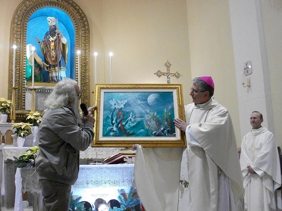 san simone vescovo quadro caracuta 2015