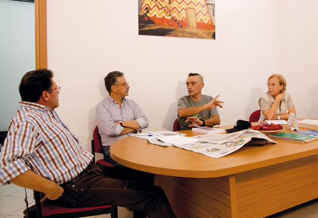 Nandu Popu e Mirko Grimaldi incontro in redazione 26-9-2011 (6)