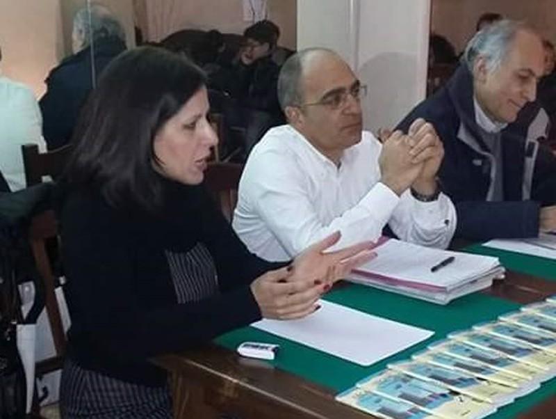 Beatrice Ruscio con Crocifisso Aloisi e Alessandro Marescotti
