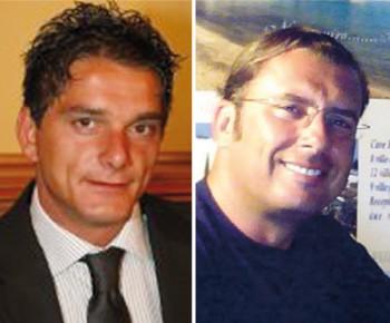 A sinistra  Sandro Quintana, esponente dell'Udc; qui accanto, Giuseppe Perruccio, Forza Italia. Dopo gli strappi,saranno probabilmente loro a correre per fare il Primo cittadino di Gallipoli