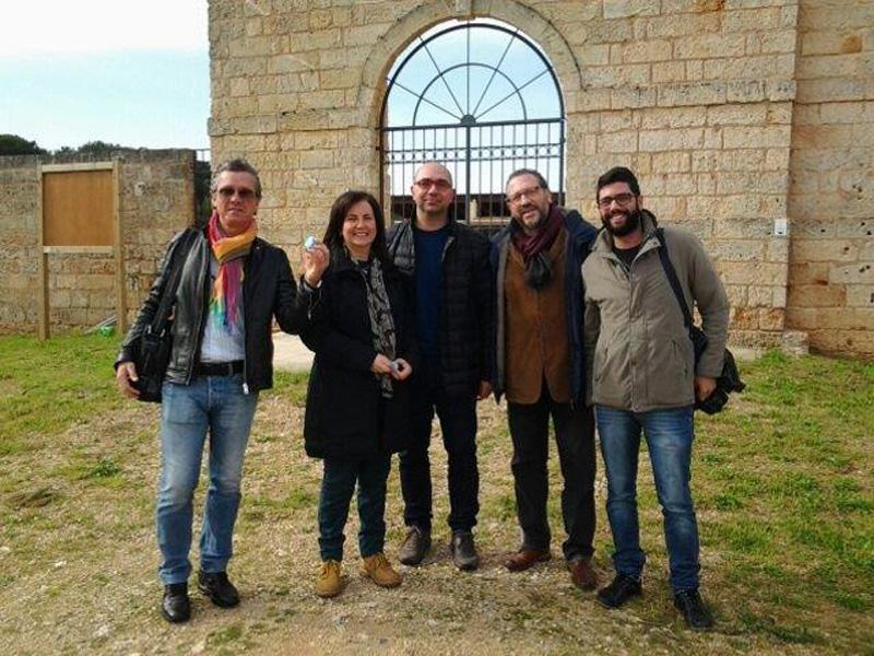L'assessore Mino Natalizio con alcuni tecnici comunali
