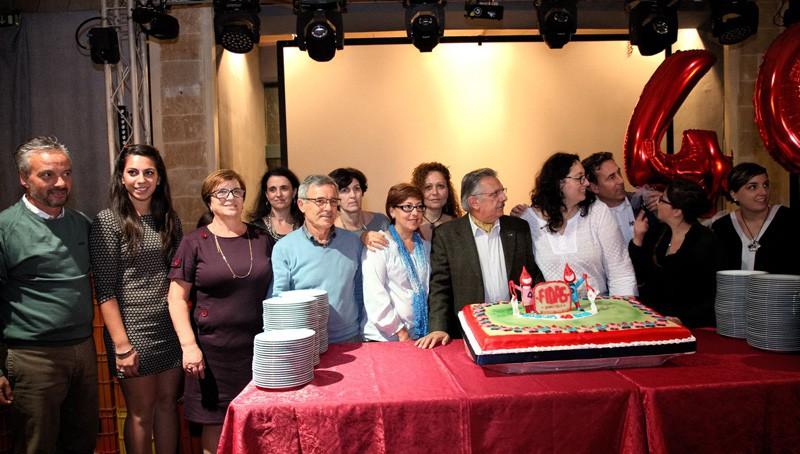 La festa del donatore 2015 e, in basso, il presidente Pietro Paolo Pintus (foto Vimbo)