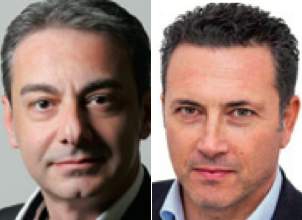 l'assessore al Bilancio Tiziano Scorrano ed il consigliere d'opposizione Alberto Cacciatore