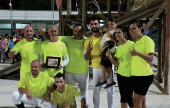 """PALIO 2014 Sopra la squadra vincitrice del rione """"Cappuccini"""""""