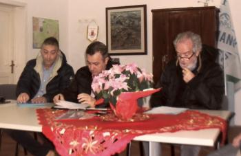 a destra con Sparacio e Davide Schipa presidente sezionale