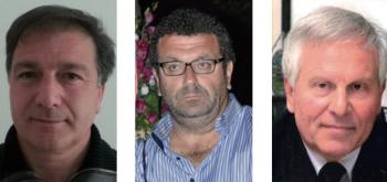 Da sinistra Luigi Arcuti, il sindaco uscente Daniele Perulli e Giuseppe Mangia