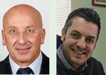 Tiziano Cataldi e Massimiliano Romano i due da sinistra