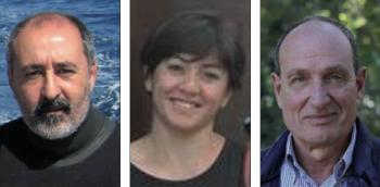 Da sinistra, Raffaele Onorato, Stefania Ronzino e Antonio Vaglio