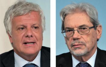 Da sinistra i ministri Gianluca Galletti e Claudio De Vincenti