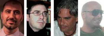 Da sinistra in alto in senso orario Francois Fracella, Paolo Marzano, Fabio Capone e Antonio Previdero