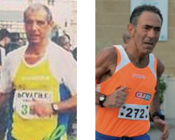 Da sinistra gli atleti scomparsi Pippi Leopizzi e Antonio Orsini