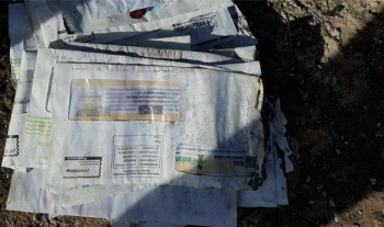 Corrispondenza ritrovata abbandonata di recente in periferia a Nardò.