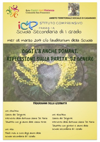 Locandina 8 marzo parabita