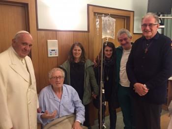 "Don Pippi all'ospedale ""Gemelli"" con Papa Francesco"