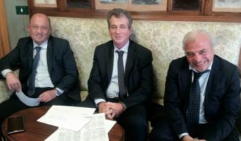 I tre commisari prefettizi Andrea Cantadori, Gerardo Quaranta e Sebastiano Giangrande