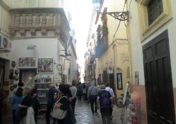 Turisti nel centro storico