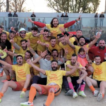 La festa al Comunale dopo la vittoria nel play-off contro il Tricase