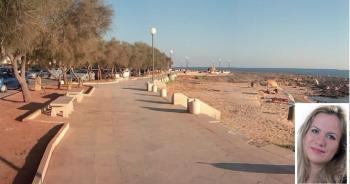 Previsto dal Piano paesaggistico territoriale regionale anche il prolungamento della passeggiata a mare per circa 600 metri per favorire un nuovo percorso ciclo-pedonale costiero. Nella fotina l'assessore Barbara D'Argento
