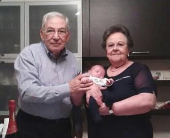 Luigi e Lidia Panzeri con il nipotino Francesco