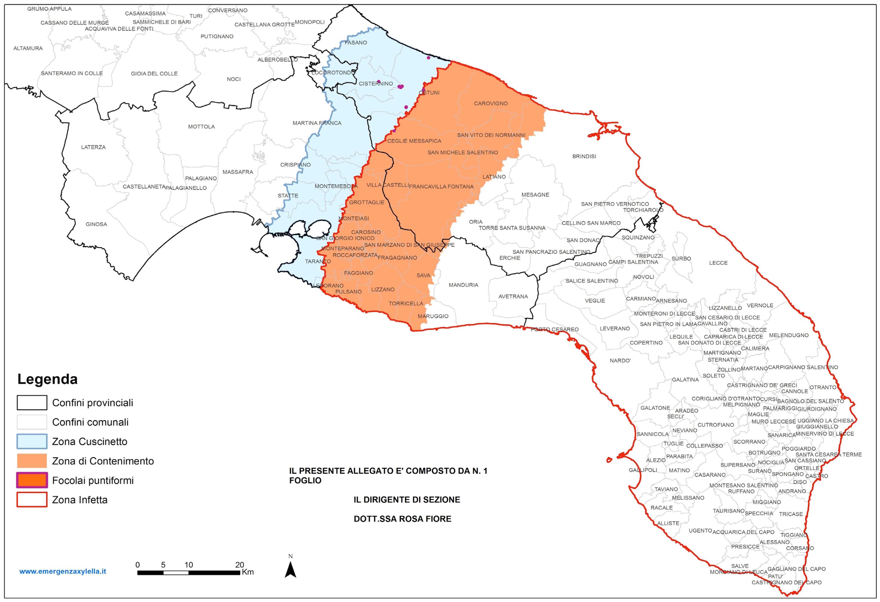Mappa Xylella Puglia.Xylella Guerra Sugli Ultimi Dati Dei Controlli Nuova Mappa E Territorio Barese Lambito Campagna D Informazione Sulle Buone Pratiche