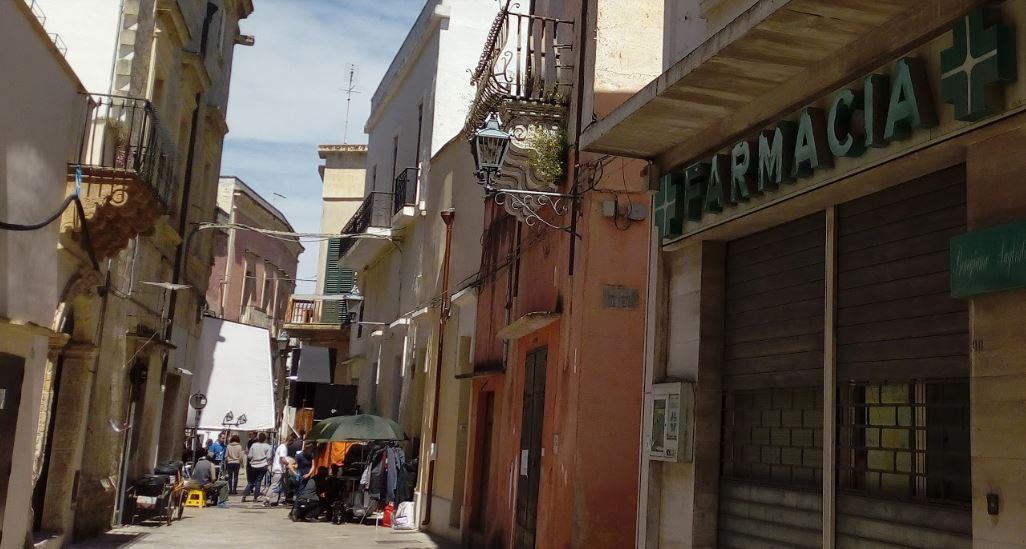 Riprese fiction Cops a Nardò_set tra via Lata e via don Minzoni