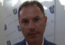 Il presidente dell'Ugento calcio Massimo De Nuzzo