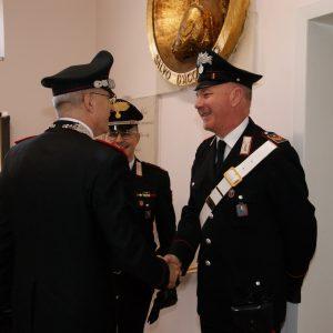 La visita del Comandate generale dei carabinieri Giovanni Nistri